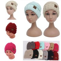 Wholesale Crocheted Caps For Girls - CC Kids Crochet Beanies Cap Hats Boys Girls Crochet Beanies Autumn Winter Knitted Warm Knitting Hats Cap Christmas Gift CC Hats For Children