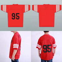 Wholesale Soccer Queen - Mens STEENBERGE Prodigy #95 Hennessy Queens Bridge Rugby Jersey Red 100% Stitched Embroidery Logos Jerseys Free Shipping