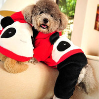 Wholesale Dog Easter Costumes - Thicken Coral Fleece Dog Suit Big Face Panda Fall Winter Pets Costumes Warm Easy Washing Anti Color Fading Non-Shedding 5 Sizes Dog Suit