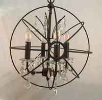 luz de techo de cristal marrón al por mayor-ORB claro K9 Cristal araña de cristal colgante de la lámpara colgante globo luz de techo nuevo para comedor decoración del hogar envío gratis