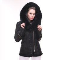 Wholesale Winter new women s real fur coat Lamb fur shearling double coats Genuine Leather jacket female