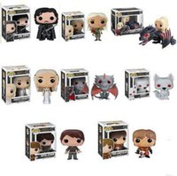 Wholesale FUNKO POP Game of Thrones Action Figures Jon Snow Daenerys Gragon Movie Figures Q Edition Anime Toys For Collection Figures Toys