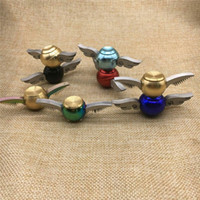 Wholesale Copper Spinners - Hand Spinner Harry Potter Golden Snitch Fidget Spinner EDC Toys CE Compliant Copper+Stainless Steel Decompression Finger Gyro Toys DHL free