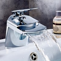 Wholesale Sink Bathtub Faucet - Sink Faucets Bathroom Brass Maxer Taps Chrome Bathtub Sink Faucet With Ceramic Valve Core 1 Holes Single Handle