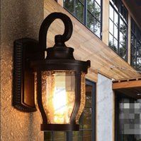 Wholesale Outdoor Wall Decor Wholesale - New Retro Industrial Wall Lamp Light Glass DIY Home Decor Garden Cafe Outdoor free shipping MYY