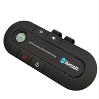 Wholesale 1gb Music Player - Wholesale- 2017 Super Speakerphone Wireless Bluetooth Handsfree Car Kit MP3 music Player For Mobile Phone Dual Phone Connect car styling