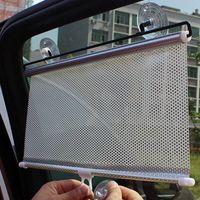 Wholesale Car Rear Window Sun Screens - Wholesale- Universal Black Car Auto Window Roll Blind Sun Shade Windshield Sun Visor Screen Solar Protection Car-styling Sunshade Car Cover