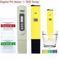 Wholesale Swimming Pool Digital Tester - Wholesale-Portable Digital PH Meter +TDS Tester Pocket Aquarium LCD PH Value Test Pen TDS3 Water Quality Tester For Fishing Swimming Pools