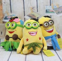 Wholesale Despicable 35cm - 3pcs Minions 35cm Despicable Me October New Arrvial Hot Sell Stuffed Animals Plush Toys Birthday Gift Free Shipping