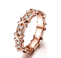 Wholesale Filigree Diamond - X-Love Rose Gold Plated Synthetic Diamond Ring for Women Solid 925 Sterling Silver Ring Filigree Art Deco Jewelry