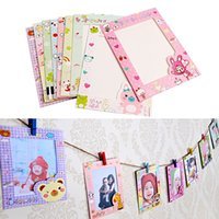 Wholesale Newest set Inch Wall Hanging Cute Animal Paper Photo Frame for Pictures Y102