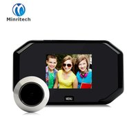 Wholesale peephole security viewer camera online - Multifunction Home Security inch TFT Color Digital TFT Memory Door Peephole Viewer Doorbell Security Camera Top Sale
