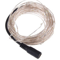 ingrosso 12v ha portato le luci della stringa-DC 12V Plug LED Copper Silver Filo String luci 10M 20M per Xmas Home Party Wedding Waterpfoof Decor USB 5V Power Bank