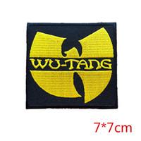 wu tang clan de ropa al por mayor-Nuevo símbolo de llegada Wu-Tang Clan Hip-Hop hierro bordado en el parche Para la ropa Niñas Niños Hierro en los parches