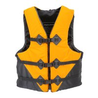 Wholesale Life Jacket Orange - Wholesale- life vest NEW life jacket fish boat Water Sport Survival Whistle fishing jacket Outdoor Professional orange yellow L XL XXL