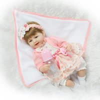 """Wholesale China House - New Arrival 45cm Silicone Reborn Babies for Girls 18"""" Reborn Baby Doll Toys for Play House Kids Birthday Gift Girls Toy"""