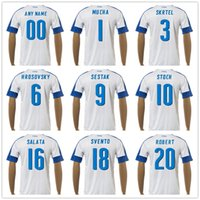 Wholesale Footballs Robert - Slovakia Soccer Jersey 3 SKRTEL 17 HAMSIK 10 STOCH 12 NOVOTA 22 PECOVSKY 19 KUCKA 20 ROBERT 18 SVENTO 16 SALATA Football Kit
