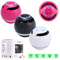 Ball Bluetooth sans fil Mini Portable Super Bass Speaker Music Box Pour Smartphone Ordinateur Portable Tablet MP3 avec Retail Box