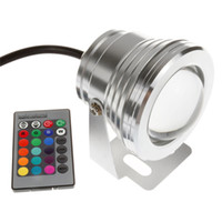 Wholesale Led Pool Pond Lights - wholesale 16 Colors 10W DC 12V RGB LED Underwater Fountain Light 1000LM Swimming Pool Pond Tank Aquarium LED Light Lamp IP68 Waterproof