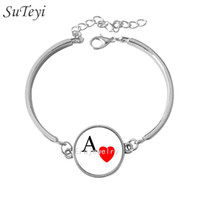 Wholesale Ideas For Bracelets - Free shipping The Ace of hearts, poker bracelet, personalized playing cards series jewelry fashion new idea gift for friends