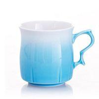 Wholesale Glazed Ceramic Coffee Mug - 270ml Ceramic cup Monolayer Handy cup Kiln Altered Glaze Mugs Candy Color Tea Coffee Cups Sweetheart cup