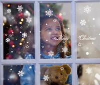 dekor yılbaşı çıkartması toptan satış-Noel Çıkartmaları Kar Tanesi Çıkartmalar Cam Windows Noel Hediyeleri için Ev Shopwindow Süslemeleri Kar Dekor Çıkartmalar Parti Düğün için