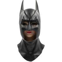 Wholesale Full Superman - Batman Masks Full Head Batman Vs Superman Mask Dark Knight Latex Mask Cosplay Batman Mask Halloween Cosplay Party Props Free Shipping