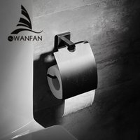 Wholesale Toilet Brush Hook - Bathroom Accessories Black Brass Paper Holder Cup Holder Toilet Brush Soap Dishes Towel Rack Hook Space 81600