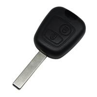 peugeot car key shell substituição venda por atacado-Remoto Chave Uncut Chave Do Carro Lâmina Caso Fob Substituição Shell Capa Para Citroen C1 C4 para Peugeot 307 407