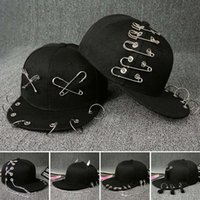 Wholesale Adjustable Acrylic Rings - 2017 New arrival sun dad hat fitted snapback adjustable designer hats for men Metal ring chain hip hop baseball caps hats wholesale