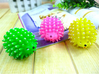 Wholesale Mini Puppy Shape - Mini Hedgehog Shape Pet Dog Puppy Squeaky Chew Toy Squeaker Ball Funny Toys Random Color