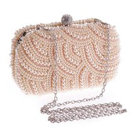 Wholesale Fashion Trend Evening - fashion women Dinner Bags Pearl bags Evening Bags single shoulder bag Clutch bag trend all-match exquisite Mission Runway free shipping
