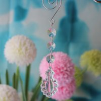 Wholesale Cake Ornament - 50PCS Wedding Event Decoration crystal drop chandelier Beaded Drop Ornament