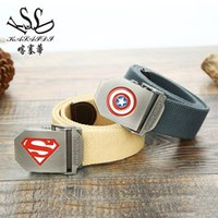 Wholesale Heated Belts - New Pattern Heat Pin. Lovers Five-pointed Star Canvas Belt Cowboy Belt Outdoors Student Waist Seal
