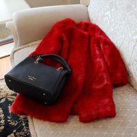 Wholesale N9 Cover - Fashion Best Quality Warm adn thicking Fashion Red Faux Fox Fur Coat N9