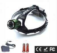Super Bright 5000LM 10W LED 3-mode 18650 Recarregável Zoomable Impermeável Camping Caça Pesca Farol Headlight Head Torch Lamp