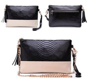 Wholesale Top Quality Leather Wholesale Handbags - Fashion Lady Crocodile Clutch Bag Women Leather Shoulder Bags Handbag with Tassel Colors Top Quality