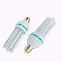 Wholesale bulb e14 12w online - 2U U U LED Bulbs E27 E14 B22 Energy Saving Lamp W W W W W SMD LED Corn Light AC85 V