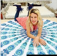 Wholesale Yoga Scarfs - Pashmina Paisley Scarves Sunscreen Shawl Geometric Printed Round Mandala Beach Towels Yoga Mat Fashion Cover-ups Beach Shawls Wrap Chiffon