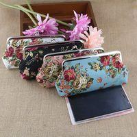Wholesale Rose Wallets Purses - Hot Selling Flower Rose Women's Cute Cartoon Coin Purse Phone Bag Case Wallet Keys Card Pouch Owl Branch Pattern Hasp Carteira