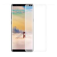 vollfilm-handy großhandel-Für Samsung Galaxy Note 8 Full Size Mobile 3D gebogene EdgeToughened Full-Schutzfolie für Note 8
