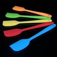 Wholesale Solid color Silicone Cake Scraper Cake Cream Butter Spatula Mixing cooking Scraper Brush Silicone Baking Tool A0491