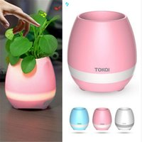 TOKQI Bluetoth Smart Touch Music Flowerpots Pianta Piano Music Playing Wireless Flowerpot luce colorata Vasi da fiori KKA1767 (senza piante