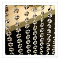 Wholesale Decorative Curtain Beads - Hot Curtain Crystal Clear Acrylic Beads Chain Acrylic Crystal Garland Hanging Diamond Chandelier Wedding Supplies Party Table Decoration
