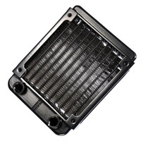 Wholesale Cpu Water Cooling Radiator - Wholesale- CAA-G1 4 90mm Aluminium Heat Radiator For PC CPU Water Cooling Heatsink Black