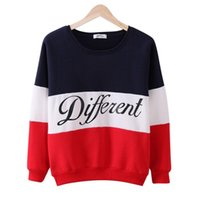 Wholesale Different Size Women - Autumn winter women Long Sleeve hoodies printed letters Different women casual sweatshirt hoody sudaderas Plus Size S-2XL 2pcs lot