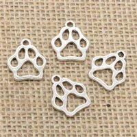 Wholesale Bear Charm Pendant Bronze - Wholesale 90pcs Charms Tibetan Silver Bronze Gold Plated dog bear paw 19*17mm Pendant for Jewelry DIY Hand Made Fitting