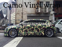 Wholesale frosted sticker for sale - Group buy Large Frost Camo VINYL Full Car Wrapping Camouflage Foil Stickers with Camo truck covering foil with air free size x m Roll