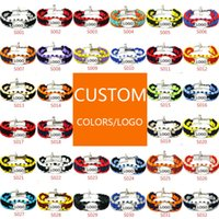 Wholesale Custom Paracord Buckles - Mix Styles Football baseball outdoor Paracord Survival Bracelets U buckle key chains Custom Made Camping Customized logo bracelet