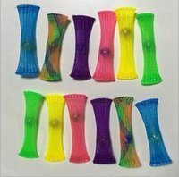 Wholesale Marble Beads Wholesale - Vent Squeeze Mesh Grid Fidget Toy Focus Enhance Soothing Marble Fidgets Decompression Toy With Glass Beads Toys CCA5968 600pcs